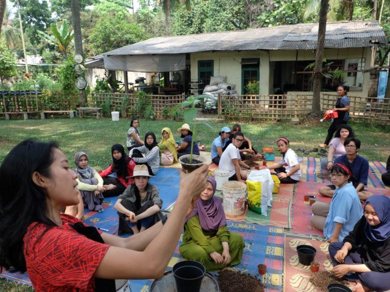 Aktivitas kebun belajar di Kebun Kumara